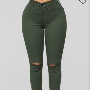 Green fashion nova canopy jeans